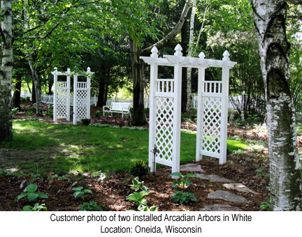 Arcadian Arbor in White