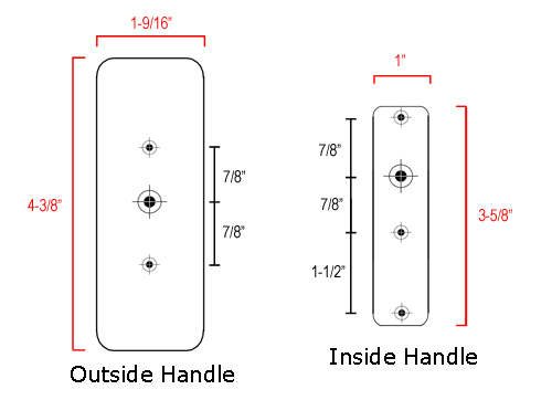 Storm Door Handle Hartford Surface Mount White Free