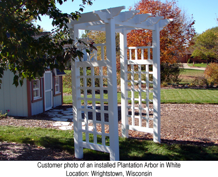Plantation Arbor in White
