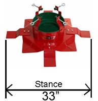 TS297WL Christmas tree stand stance
