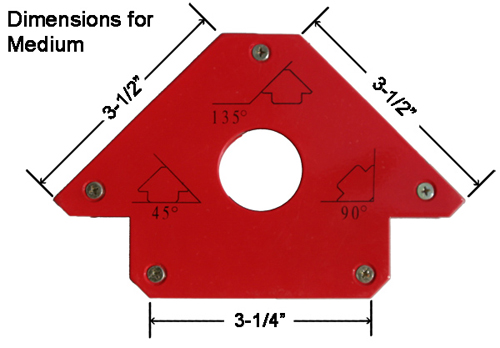 Medium Weld Mag Dimensions