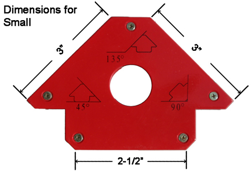 Small Weld Mag Dimensions