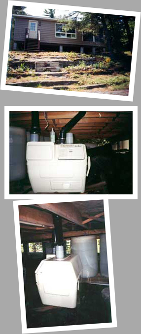 Composting toilet review of Sun-Mar Centrex 1000 NE installed in cottage, Georgian Bay, ON
