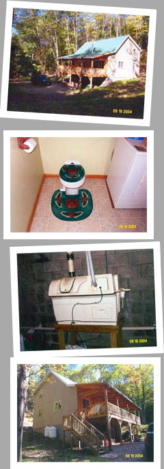 Composting toilet review of Sun-Mar Centrex 2000 installed at Big Bucks Lodge Alma, NY