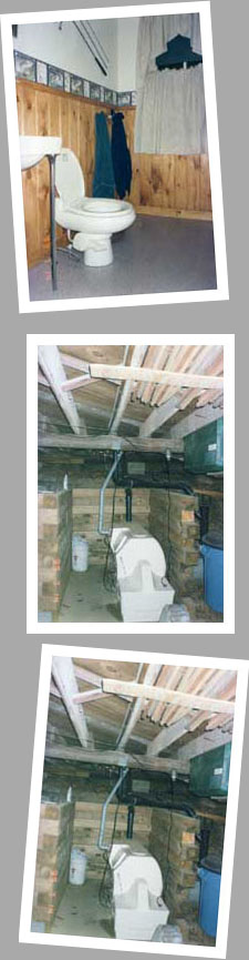 Composting toilet review of Sun-Mar Centrex 3000 installed at camp on Lake Garfield, MA