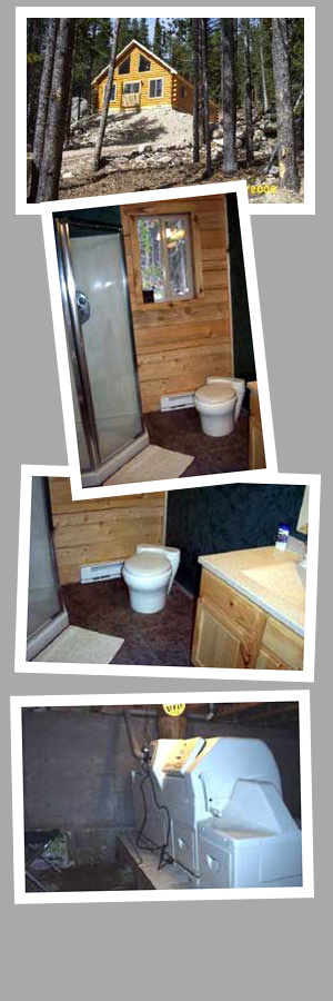 Composting toilet review of Sun-Mar Centrex 3000 AF installed in cabin in CO