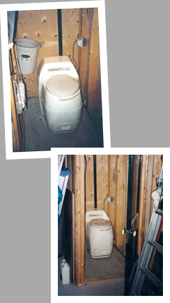 Composting toilet review of Sun-Mar Compact model installed in house basement and workshop