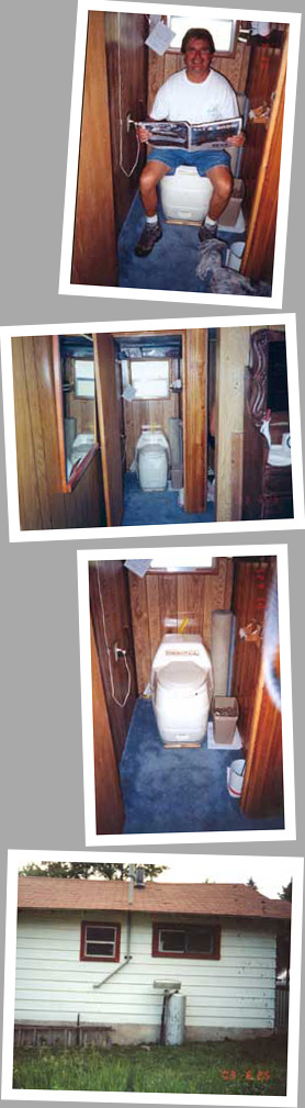 composting toilet review of Sun Mar Compact Model installed in cabin in CO
