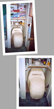 Composting toilet review of Sun-Mar Compact model installed on island in the St. Lawrence river