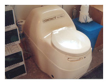 composting toilet review of Sun Mar Compact Model installed in CT