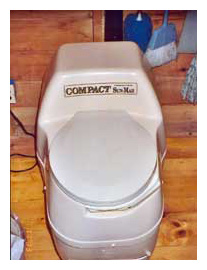 composting toilet review of SunMar Compact model installed in cottage in New York