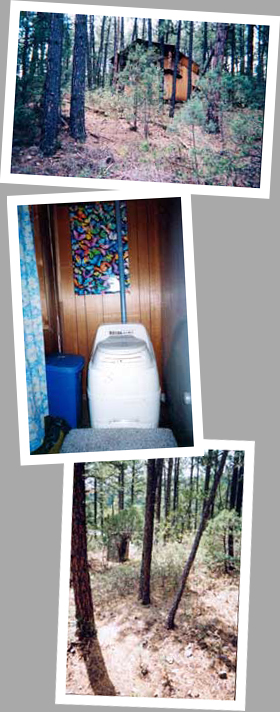 Composting toilet review of Sun-Mar Excel installed at cabin in Ruidoso, NM