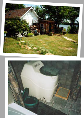 Composting toilet review of Sun-Mar Excel installed in cabin on Santa Fe Lake, Moline, KS