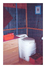 Composting toilet review of Sun-Mar Excel installed in cabin near Crystal Lake, Laramie County, Wyoming