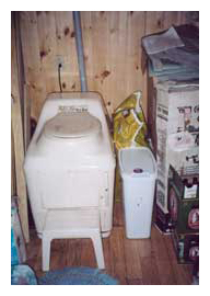 Composting toilet review of Sun-Mar Excel installed at cottage in Young's Cove, New Brunswick