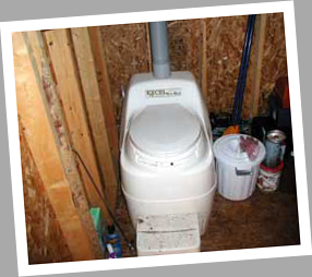 Composting toilet review of Sun-Mar Excel NE installed at summer cottage, Muskoka Region, ON